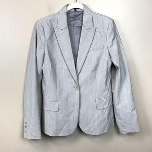 Theory gray wool blend blazer jacket 10